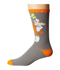 Neff Shy Goofy Sock Grey Heather Men's Crew Cut Socks Shoes Gray