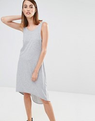 Selected Ana Sleeveless Jersey Beach Dress Grey