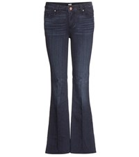 Paige Skylineboot Flared Jeans Blue