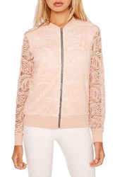 Missguided Women's Lace Bomber Jacket