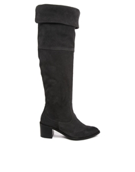Report Signature Justeen Suede Knee Boots Charcoal