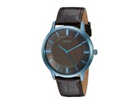 Guess U0664g3 Brown Croco Sky Blue Watches Black