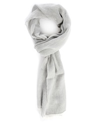 Billtornade Mottled Grey Cotton Linen Scarf
