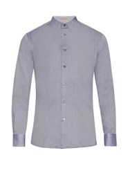Bottega Veneta Button Cuff Cotton Oxford Shirt Navy
