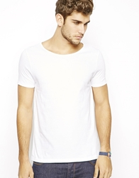 Asos T Shirt With Wide Boat Neck White