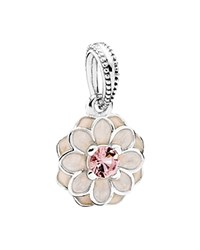 Pandora Design Pandora Dangle Charm Sterling Silver Cubic Zirconia And Enamel Blooming Dahlia Moments Collection Pink