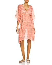 Echo Ikat Double V Tunic Swim Cover Up
