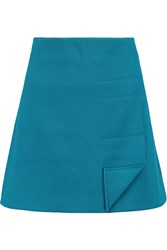 Roland Mouret Coppins Crepe Mini Skirt Blue