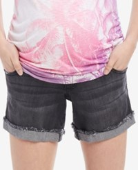 Motherhood Maternity Cuffed Denim Maternity Shorts Black Wash