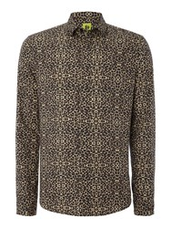 Noose And Monkey Long Sleee Leopard Print Shirt White