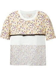 Giambattista Valli Flower Prit Panelled T Shirt Multicolour
