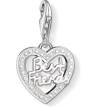 Thomas Sabo Charm Club Silver And Zirconia Best Friends Charm Pendant