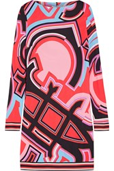 Emilio Pucci Printed Jersey Dress Coral