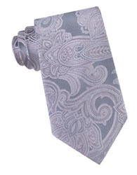 Michael Michael Kors Scalloped Paisley Silk Tie Pink