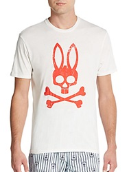 Psycho Bunny Logo Graphic Cotton Jersey Tee Bright White