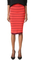 Sonia Rykiel Double Layer Skirt Kiss Cherry Cherry