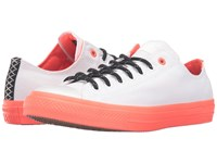 Converse Chuck Taylor All Star Ii Shield Canvas Ox White Lava Gum Lace Up Casual Shoes