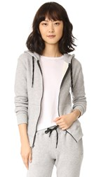 Chrldr Noir Zip Up Hoodie Heathered Grey
