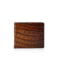 Tomas Maier Crocodile Effect Leather Cardholder