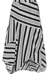 Zimmermann Ticking Striped Linen And Cotton Blend Wrap Skirt