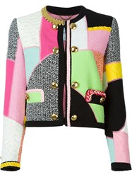 Moschino Patchwork Jacket Multicolour