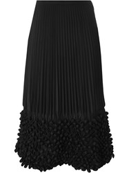 Issey Miyake Vintage Bubble Effect Pleated Skirt Black