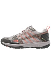 The North Face Litewave Explore Gtx Hiking Shoes Qsilver Grey Radiant Orange