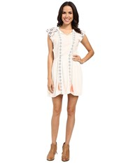 Rock And Roll Cowgirl Cap Sleeve Dress D5 7673 White Women's Dress