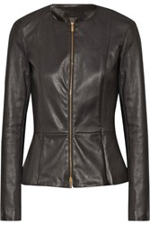 The Row Anasta Stretch Leather Jacket Black