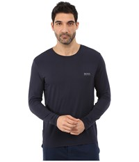 Hugo Boss Long Sleeve Crew Modal Navy Men's T Shirt