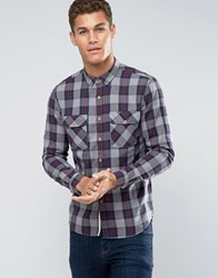 Pull And Bear Pullandbear Check Shirt In Grey In Regular Fit Grey
