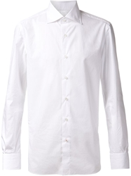 Isaia Cut Away Collar Shirt White