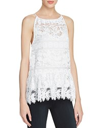 Tracy Reese Draped Lace Tank White
