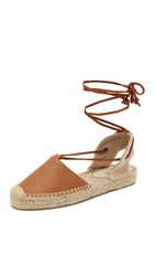 Soludos Platform Gladiator Sandals Tan