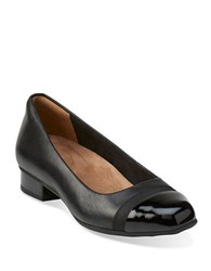 Clarks Keesha Rose Leather Cap Toe Heels Black