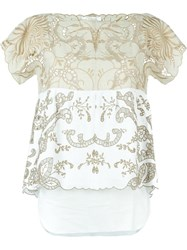 Chloe Chloe Embroidered Top Nude And Neutrals