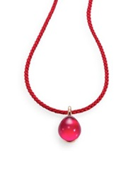 Pomellato Rouge Passion Burma Cabochon And Braided Cord Necklace Ruby