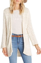 Billabong Women's All Fur You Cardigan White Cap