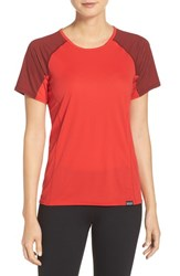 Patagonia Women's 'Capilene' Lightweight Tee French Red