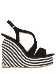Paloma Barcelo 140Mm Lena Suede Wedge Sandals