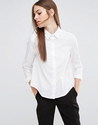 Sisley Dipped Hem Shirt 101 White