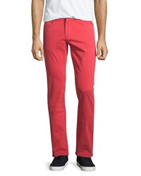 J Brand Jeans Kane Slim Straight Leg Jeans Cape Red