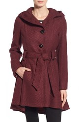 Women's Steve Madden Belted Hooded Skirted Coat