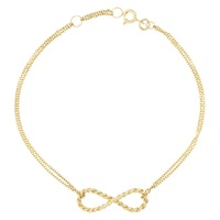 London Road 9Ct Gold Infinity Bracelet Gold