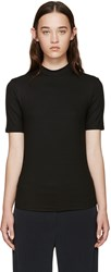 Nomia Black Ribbed Jersey T Shirt