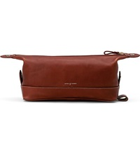 Aspinal Of London Men's Classic Leather Washbag Cognac