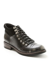 Kensie Sissel Lace Up Ankle Boots Black
