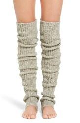 Lemon Women's 'Flurry' Rib Knit Leg Warmers Frost