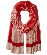 Liebeskind Wave Scarf Cherry Blossom Red Wave Scarves Pink