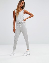Pull And Bear Pullandbear Sleeveless Waist Sweat Jumpsuit Grey Vigo